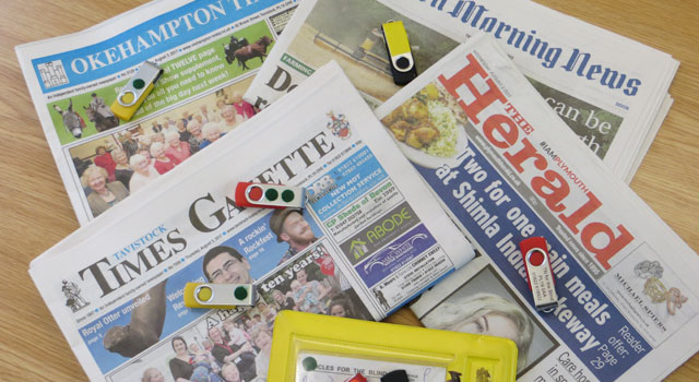Newspapers and USB sticks